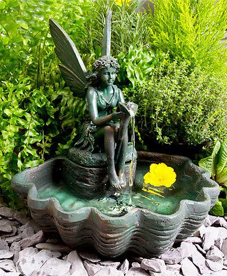 Fairy Fountain Fairy Gardens Solar Water Garden