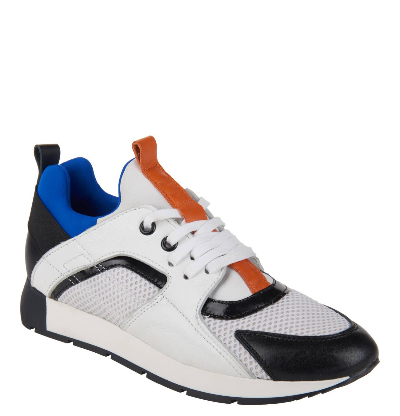 XL Sneaker, Leder Einsätze, Mesh, Schnürung in 2019