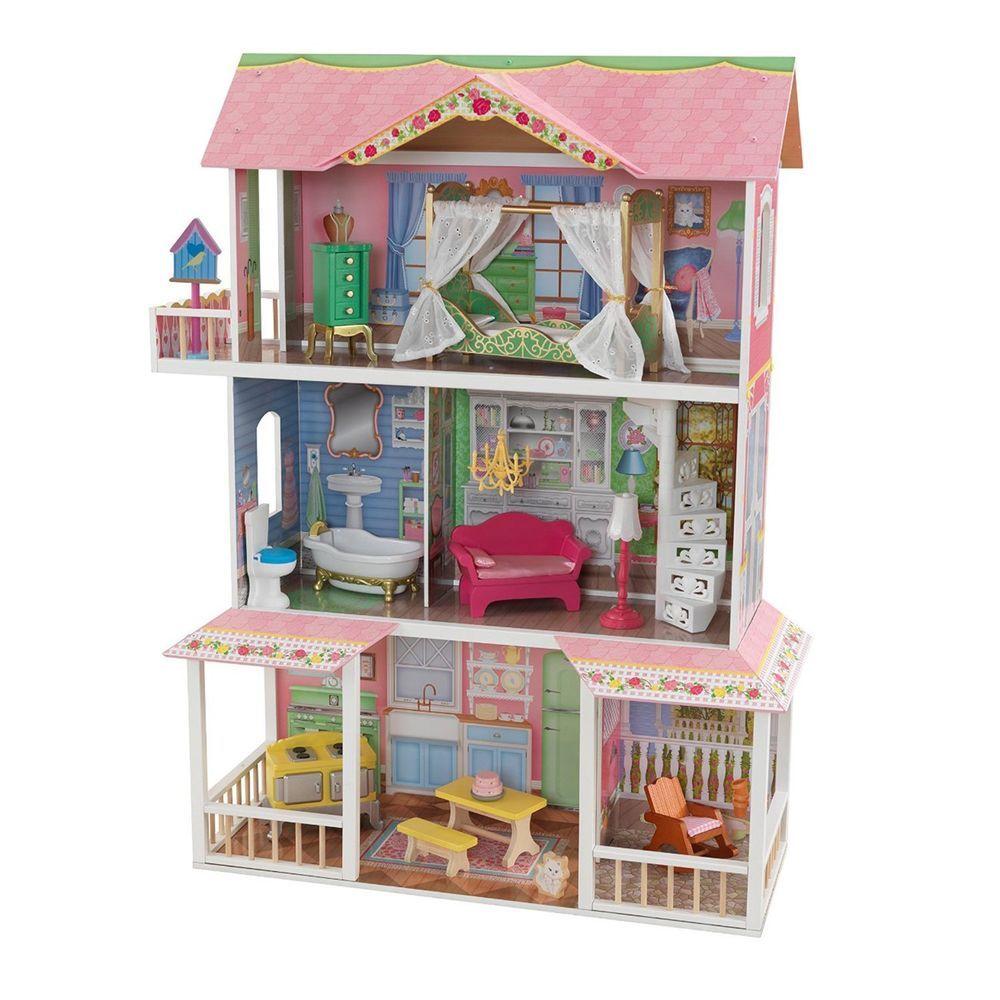 KidKraft Sweet Savannah Wooden Pretend Play House Doll