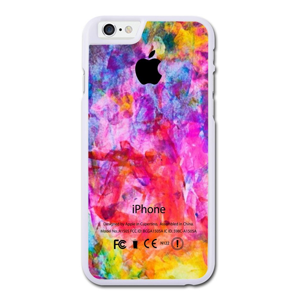 Colorful Watercolor Apple Logo iPhone 6 Case
