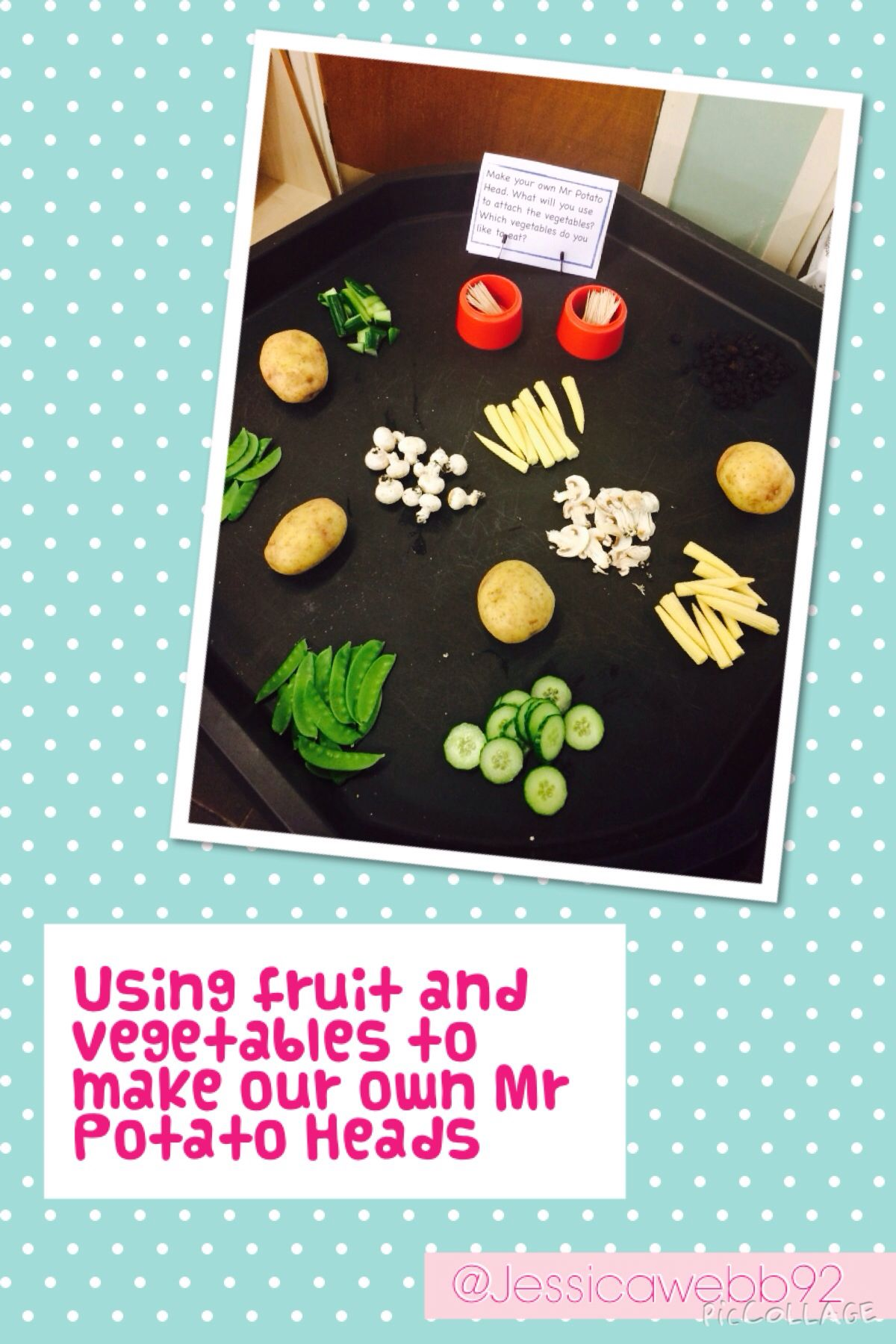 Making Real Mr Potato Heads With Vegetables Eyfs