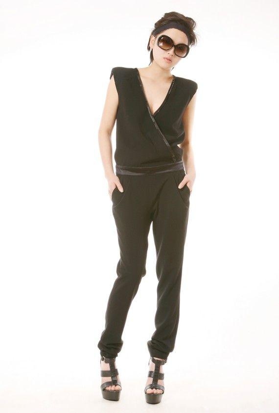 Black chic Jumpsuit  Style 1 van EllaLai op Etsy
