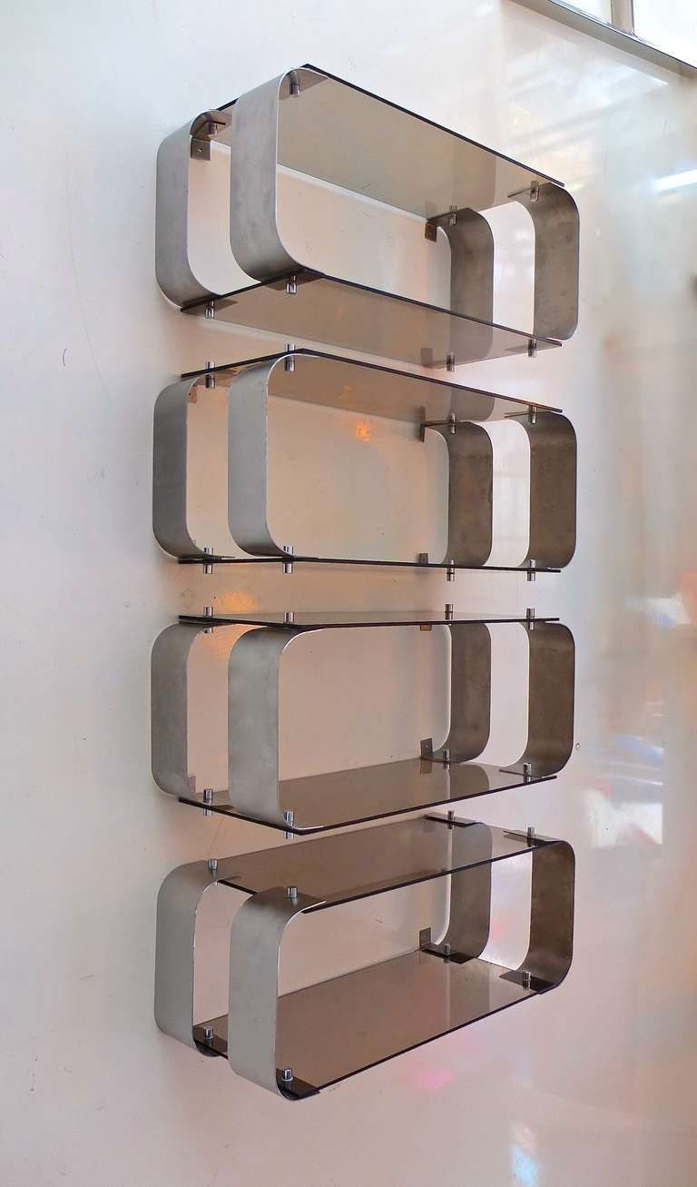 Great Wood And Metal Wall Shelves In Wall Mount Brackets Metal And
