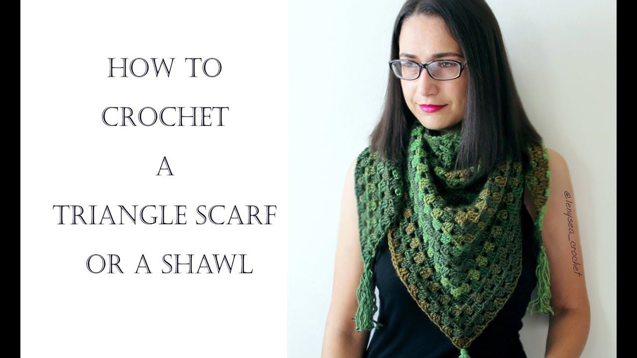 How To Crochet for Beginners | Shawl or Triangle Scarf - YouTube ...