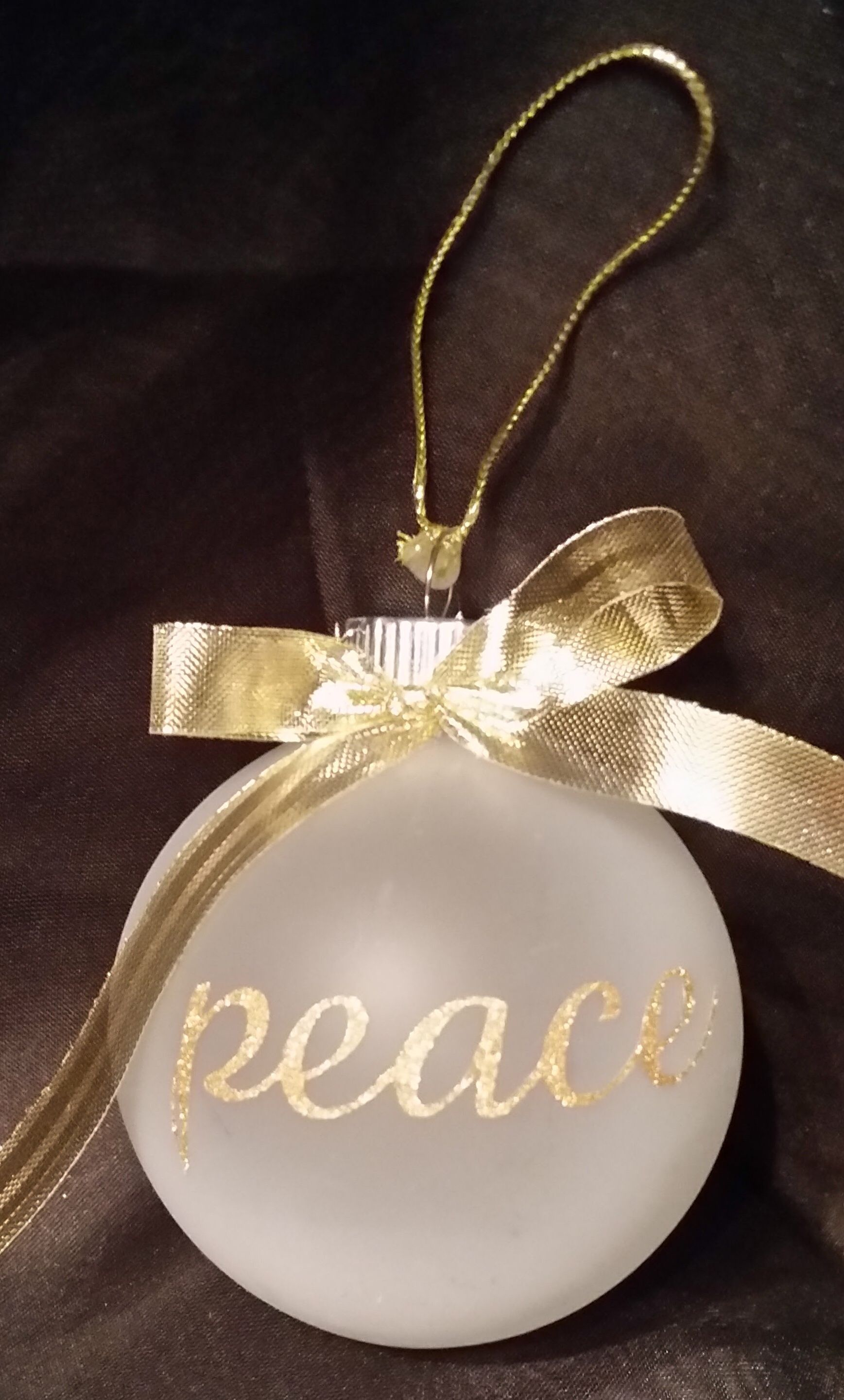 """Peace to you this Christmas This 2 1 2"""" frosted glass Christmas"""