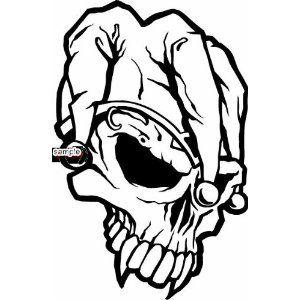 Joker Skull Colouring Pages Skull Coloring Pages Skull Art Drawing Skull Tattoo Design