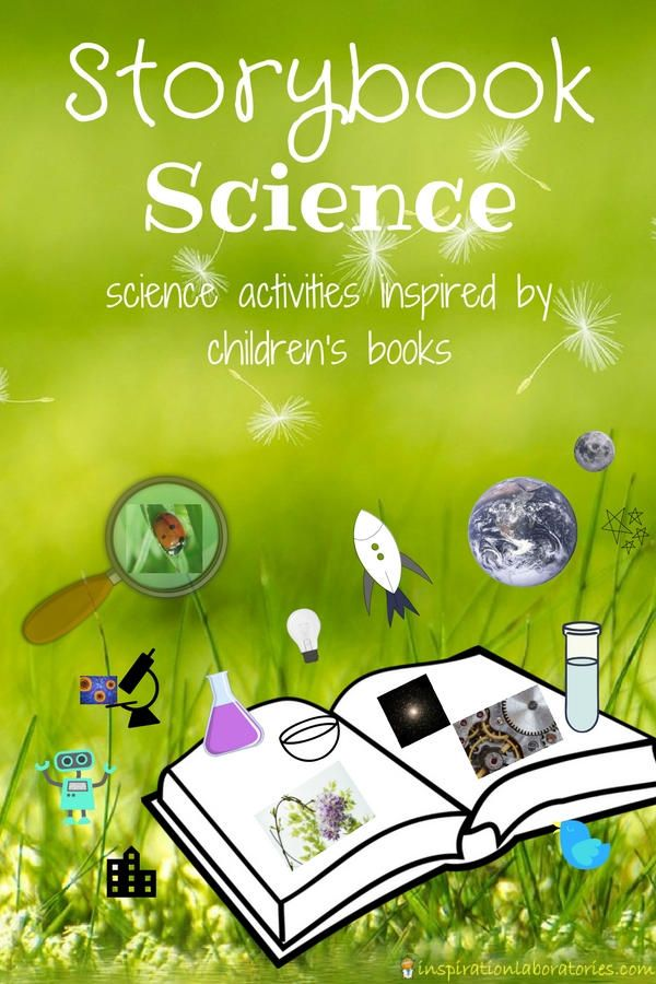 Storybook Science Series featuring science activities inspired by children's books. This year's topics include sensory science, science for the future (conservation), science in the garden, and science with robots.
