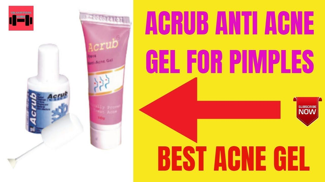 Acrub Anti Acne Gel Antibacterial Face Cleanser For Acne Prone