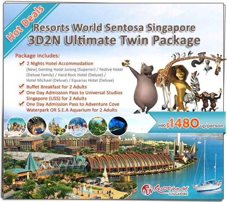 Hot Deals Resorts World Sentosa Singapore 3d2n Ultimate Twin Package 2 Nights Hotel Breakfast Universal Studios Singapore Universal Studios Hotel Deluxe