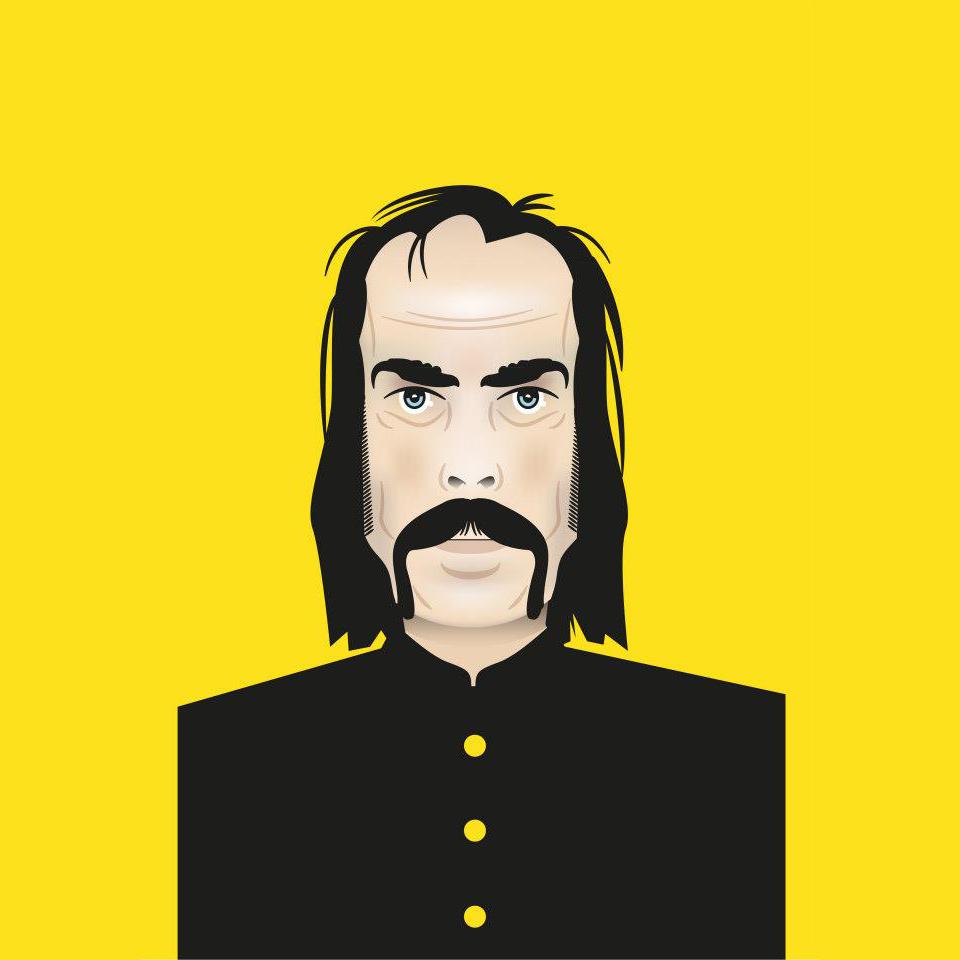 Nick Cave vector illustration