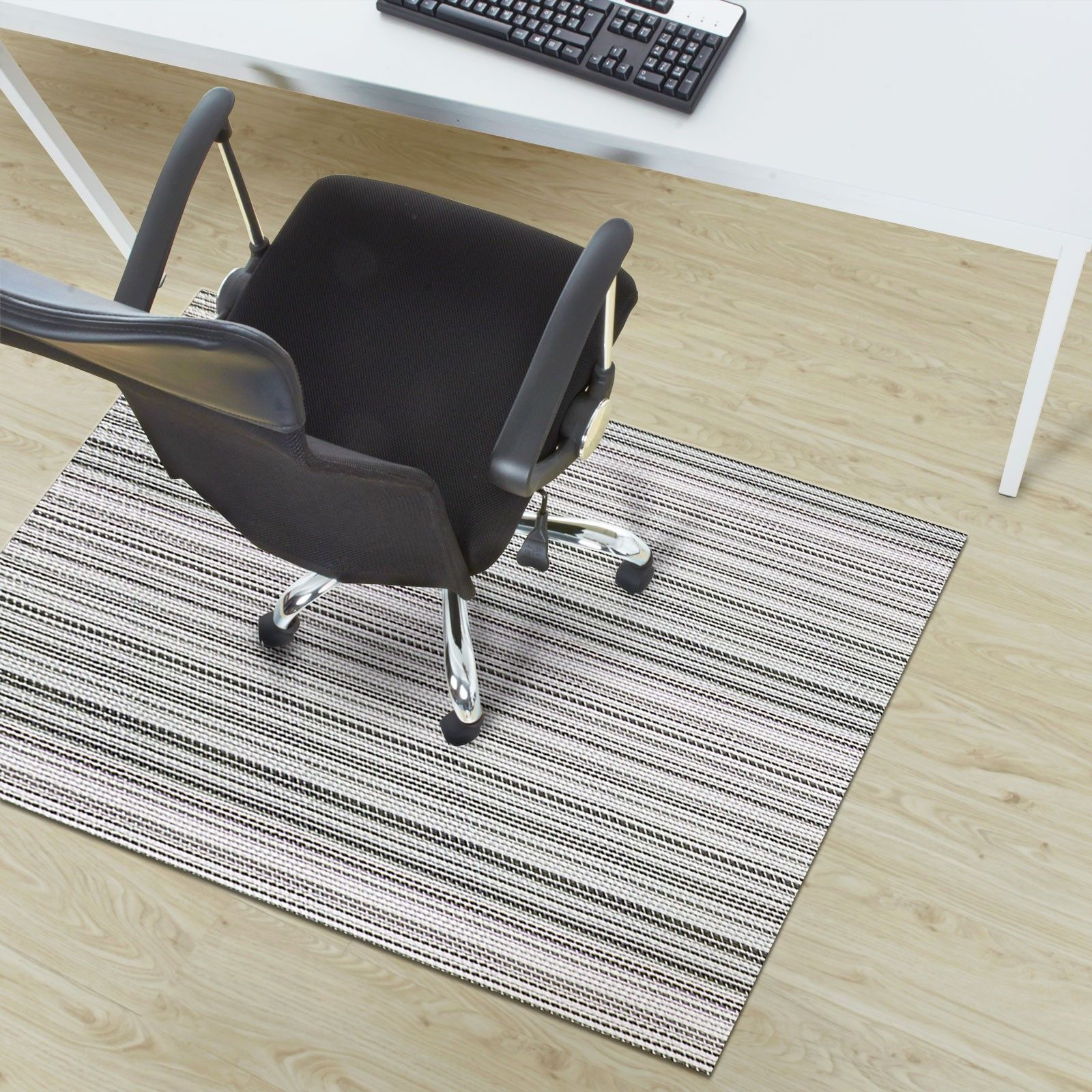 Pvc Chair Mat For Hard Floor And Short Pile Carpets Woven Structured With Non Slip Backing Uv Resistant Properties