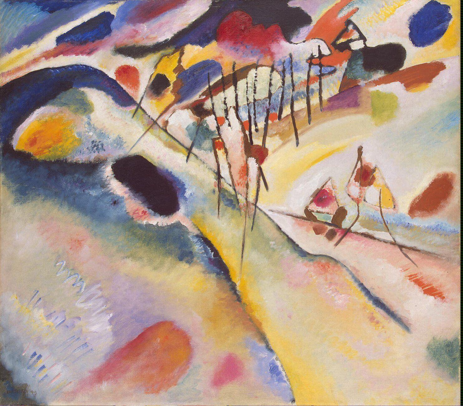 Kandinsky Art Kandinsky Illustrations Sur Toile Et Comment Peindre
