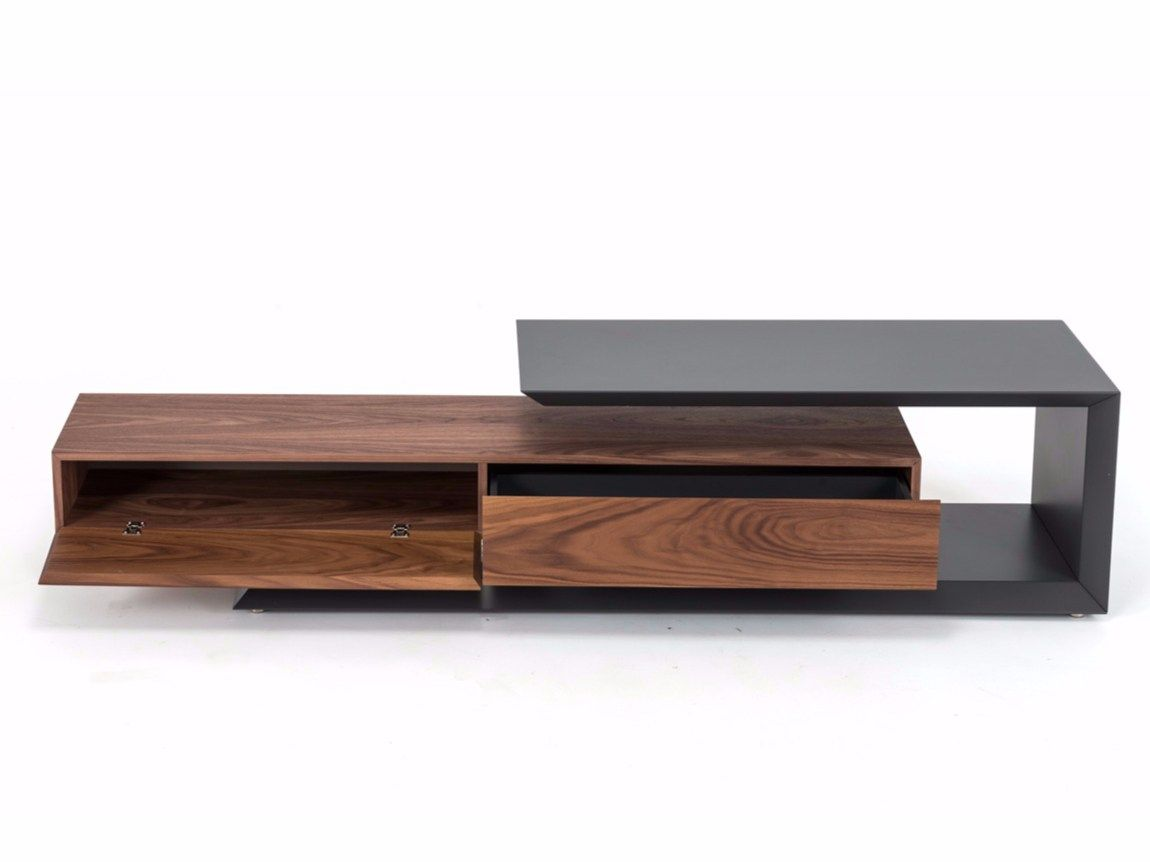 TV-Lowboard aus Walnuss LINK by Cattelan Italia Design Paolo ...