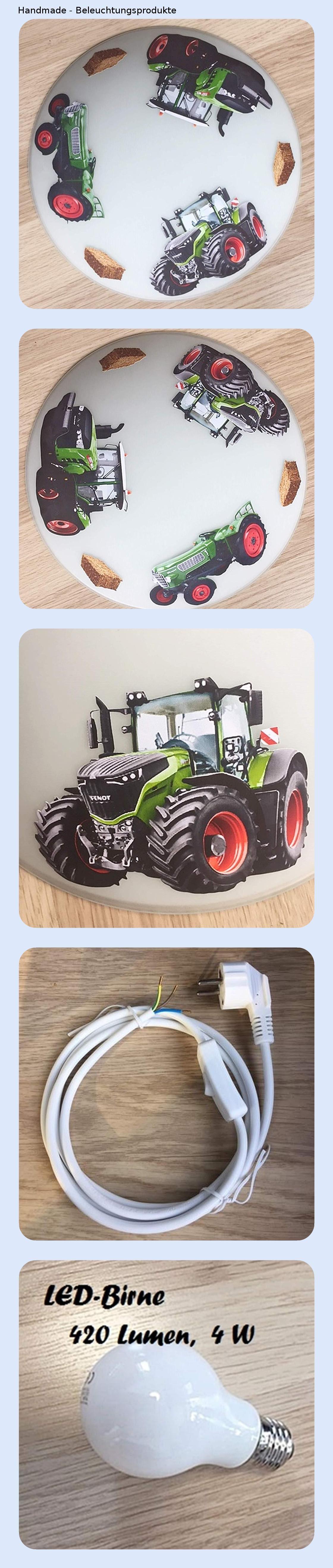 Deckenleuchte Wandlampe Traktor Trecker Auch Led Mit Ohne Name Wandlampe Deckchen Lampen