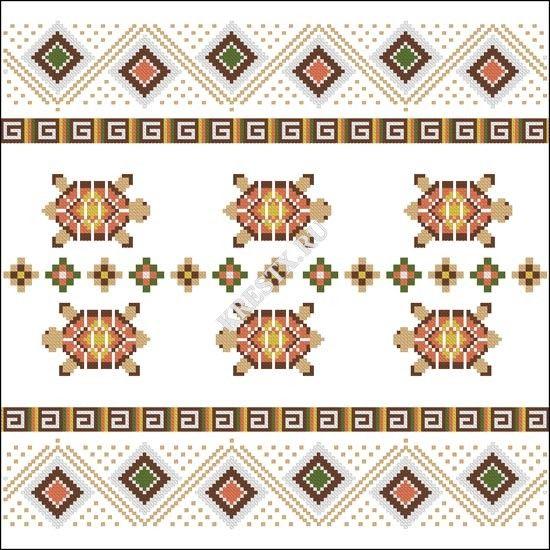 Черепашки схема вышивка