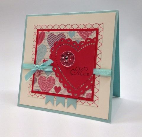 a more amore valentine card for my mom - Stampin Up Valentine Card Ideas