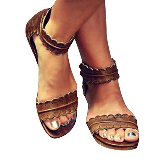 Casual Driving Travel Comfort Low Flats Sandals us9  N8TONIKU7
