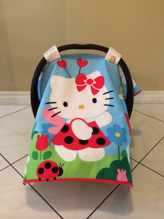 Reversible Hello Kitty and Owls Baby Car Seat by KayloBabyBoutique