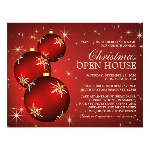 Christmas  Holiday Open House Flyer Template  Christmas And