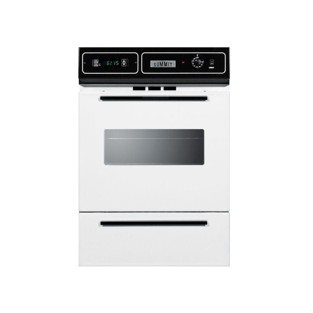 Summit Appliance 24 In Single Gas Wall Oven In White Wtm7212kw In