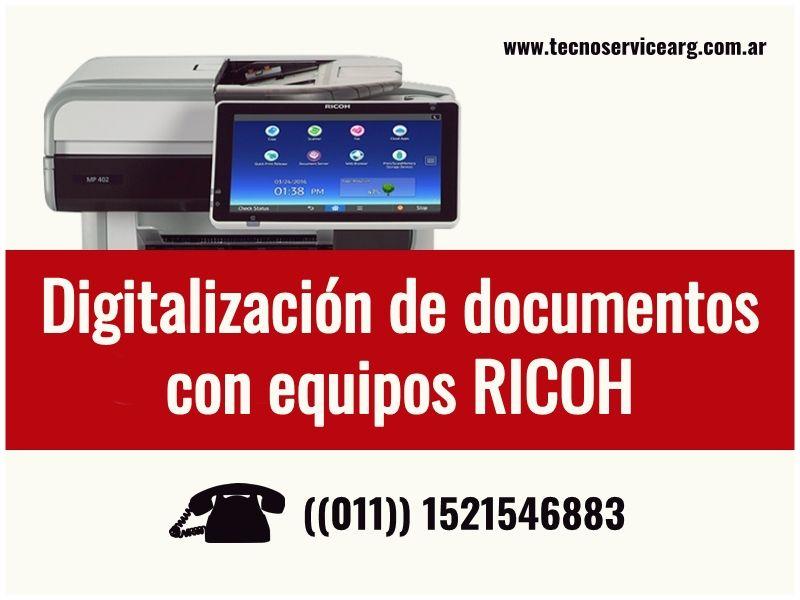 Digitalización De Documentos Con Equipos Ricoh