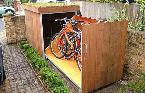 Exceptional Patio Storage Ideas Bicycle Storage