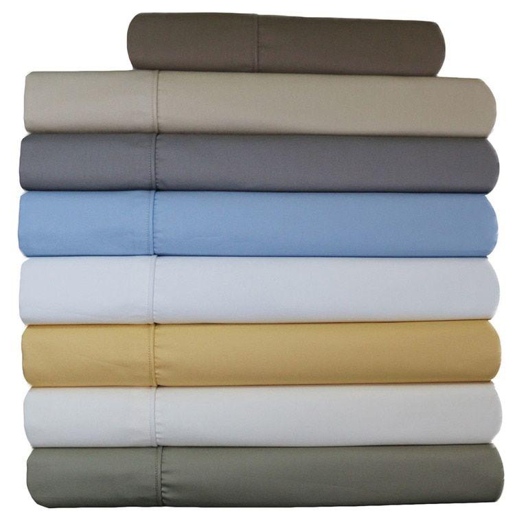 Wrinkle Resistant Adjustable Split Top King Sheets 650 Thread