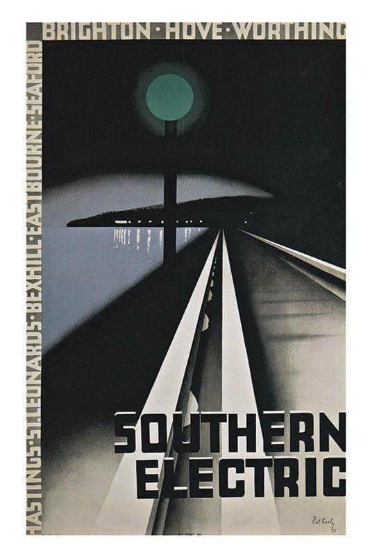 England Travel Poster Travel Print Art Deco Poster Art Deco Print Giclee Railway…