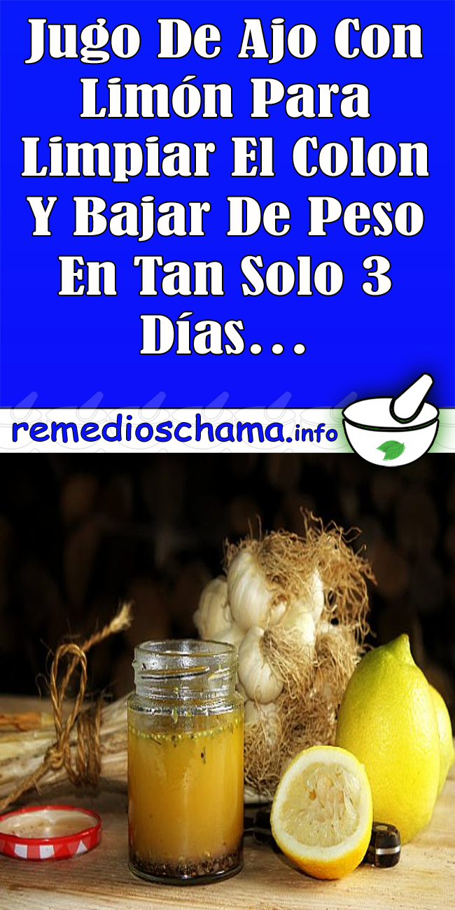 Ajo y limon para perder peso