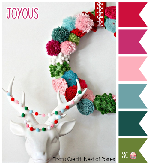 Love these bright colors of the Holiday!   Photo Credit: Nest of Posies