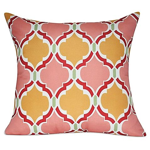 Loom Mill Damask Square Throw Pillow In Pink Pillows Pinterest Impressive Loom And Mill Decorative Pillows
