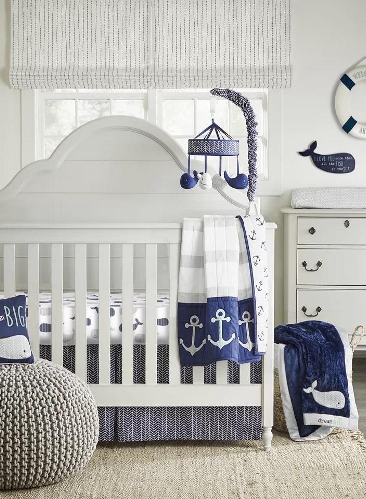 Nautical Baby Nursery Decor Affiliate Ideas From Wayfair Blue And White Furniture Room Themrsinglink