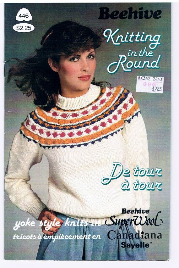 Vintage Beehive Knitting In The Round Pattern Book Knit