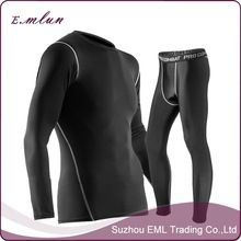 New products sports suit with long sleeves thin fitness compression men sportswear sets