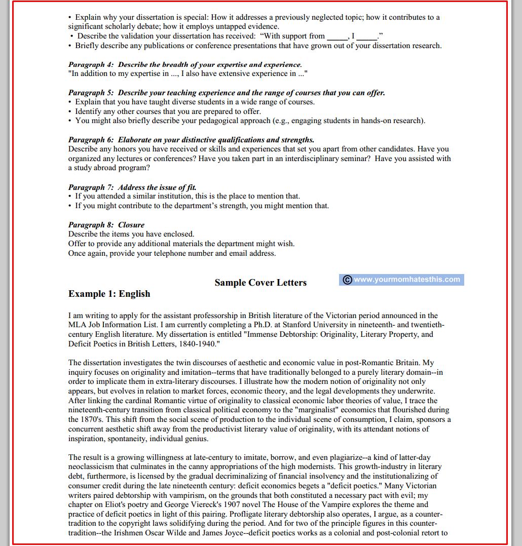 Technical Cover Letter Sample Cover Letter For Job Application Lecturer Teacher Post