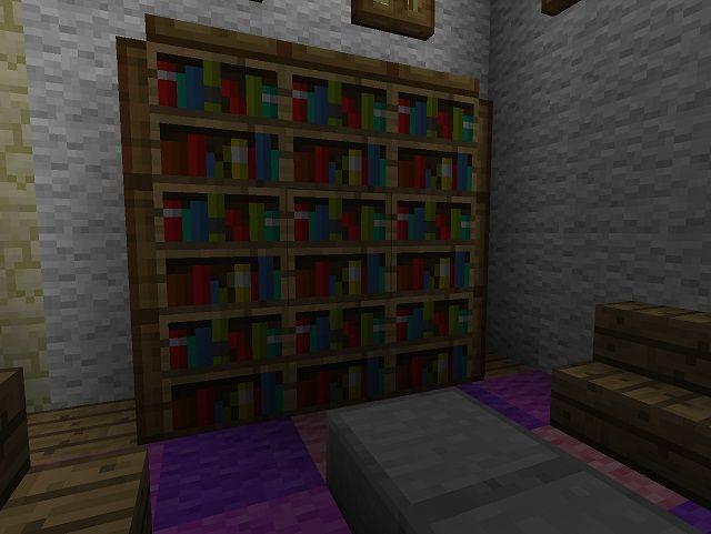 Bookshelves With Trap Door Detailing Minecraft Furniture
