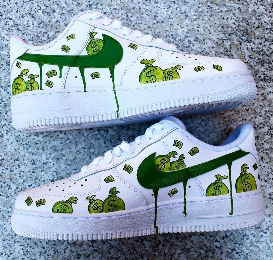 cash money | Nike air shoes, Nike shoes