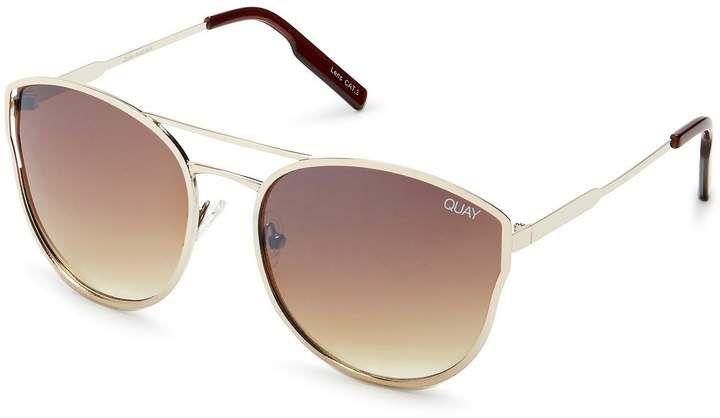 552a8b5a29 Quay Australia Cherry Bomb Double-Bridge Cat-Eye Sunglasses ...