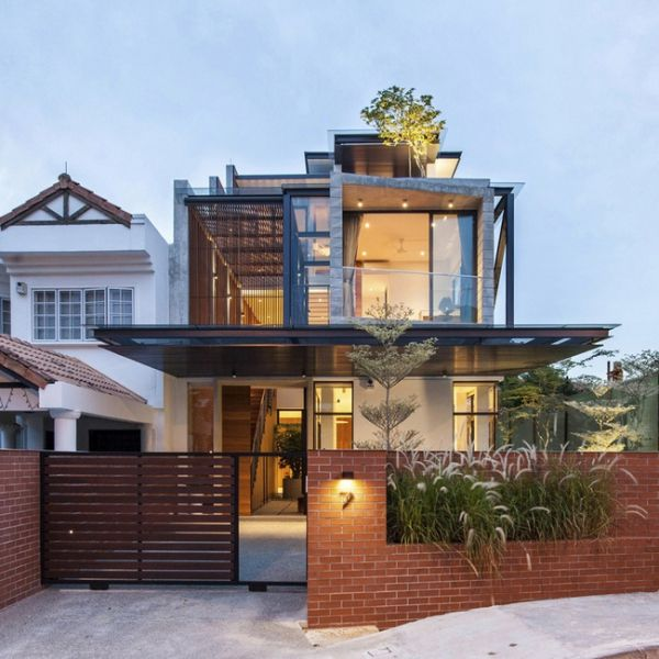 Breaking Free Iconic Semi Detached House In Singapore Singapore Architecture Singapore House Architecture