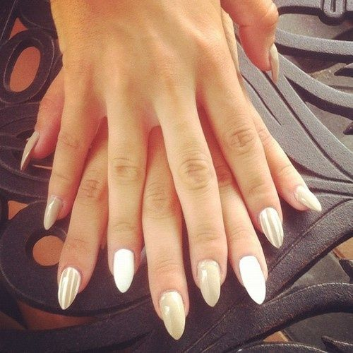 Pearly white nails polish is the girls best friend pinterest ive been getting my nails pointy for years prinsesfo Gallery