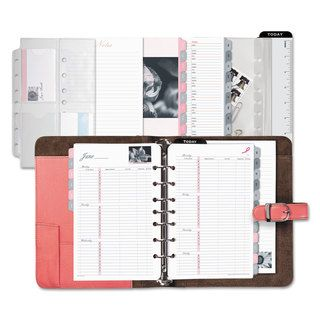 Raspberry Franklin Covey Leather Classic Open Style 7-Ring Binder | Overstock.com Shopping - The Best Deals on Planners & Organizers