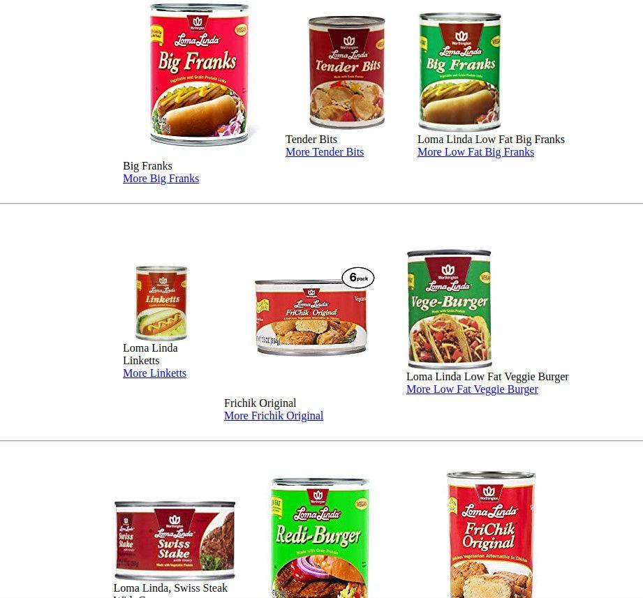 Loma Linda And Worthington Canned Foods Canned Food Food Vegetarian