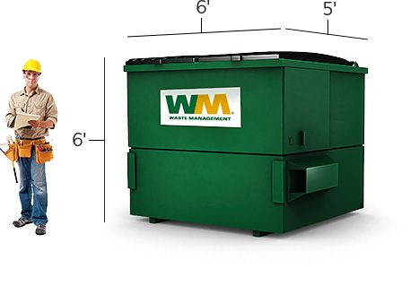 6 Yard Dumpster Jpg 467 329 Locker Storage Waste Management Company Recycling