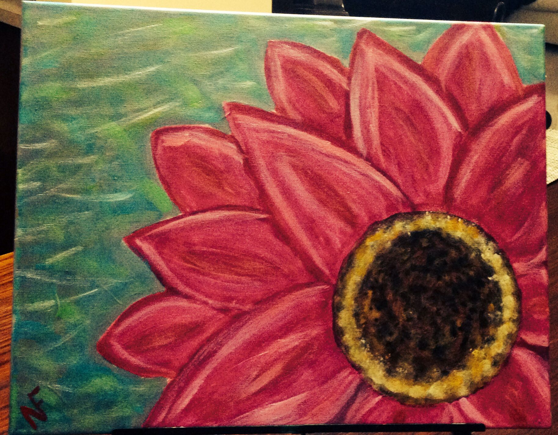 Pretty Flower Painting For A Friend My Paintings Pinterest