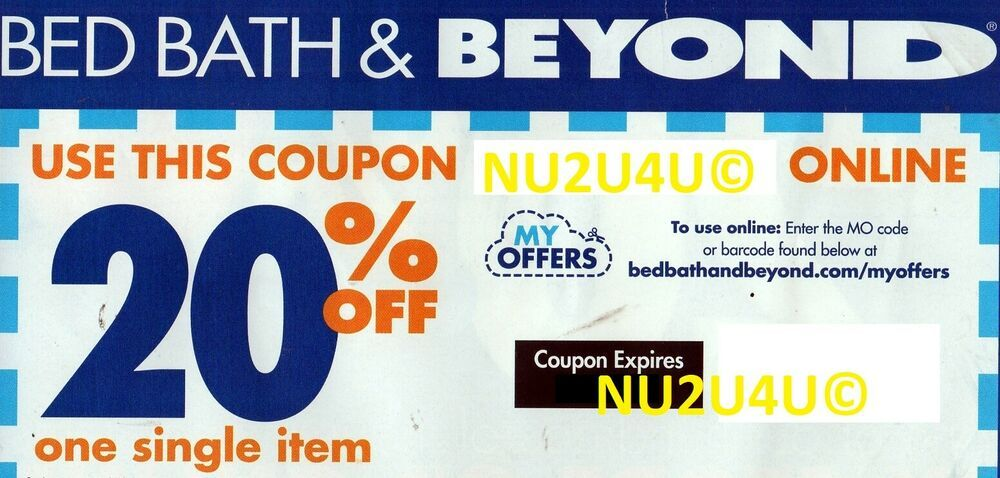 Bed Bath Beyond Online Coupon 20 Off One Item Expires 7