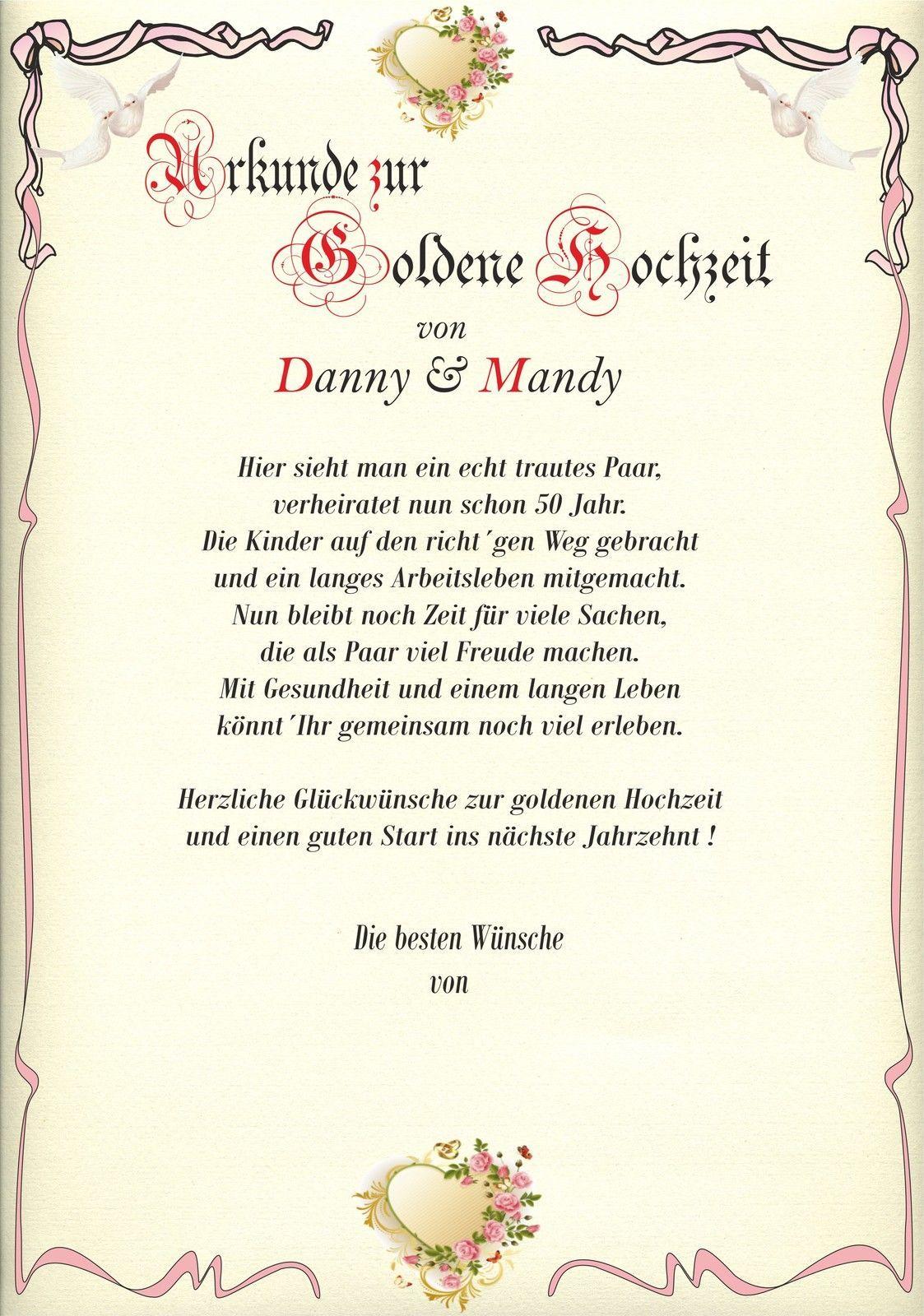 Goldene Hochzeit Urkunde Zur Hochzeit Geschenk Gluckwunsch Kar Geschenke Zur Goldenen Hochzeit Gluckwunsche Zur Goldenen Hochzeit Geldgeschenk Goldene Hochzeit