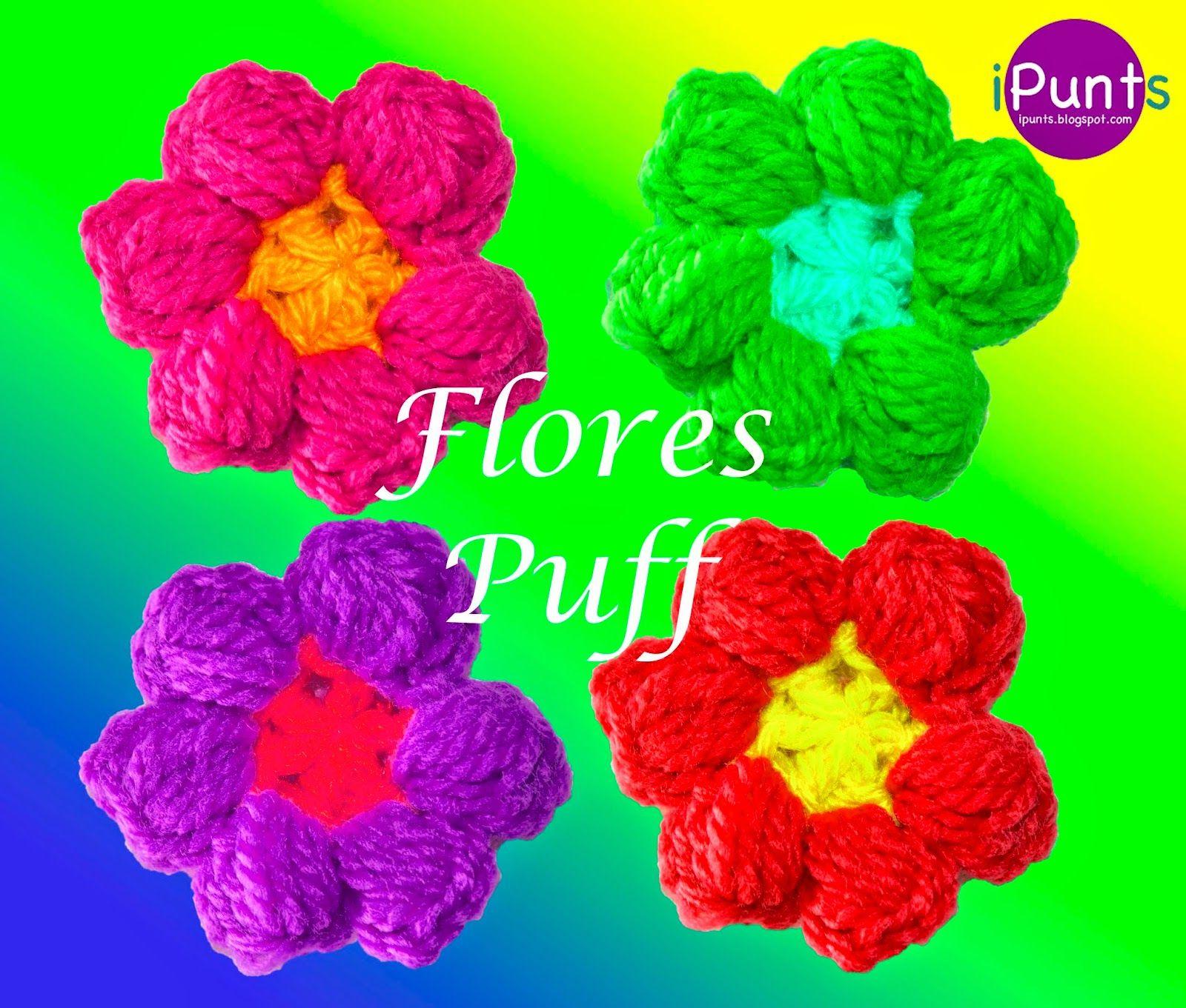 Tutorial de crochet paso a paso dónde se explica cómo hacer flores ...