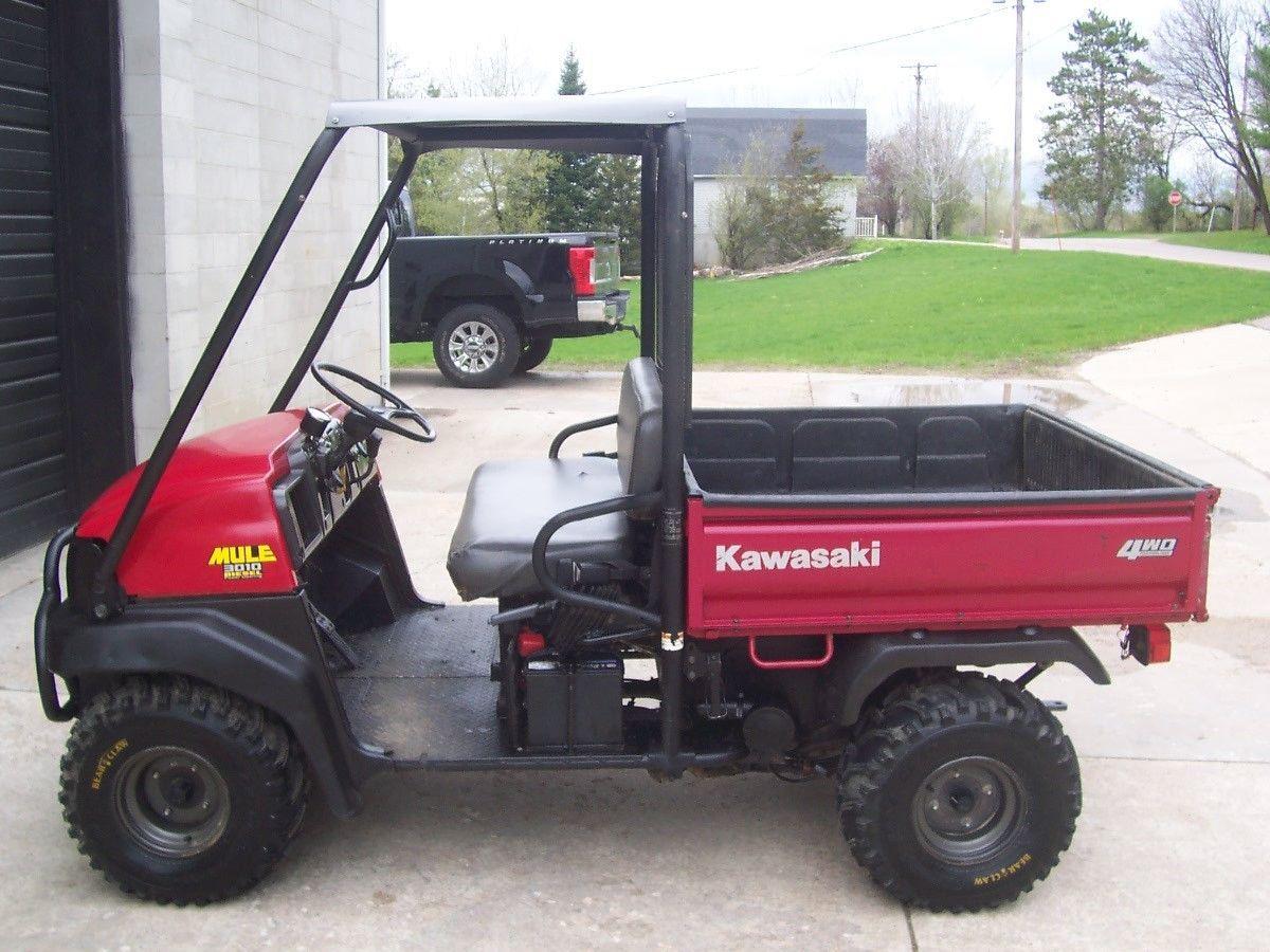 2008 Kawasaki Mule 3010 sel, 4WD, Power steering, dump box ...