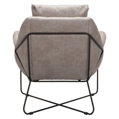 Mid Century Modern Lounge Chair Distressed Gray Zm Home In 2018