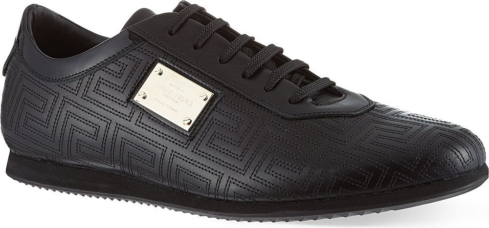 Versace Gold Couture Lo Pro trainers